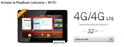 RIM BlackBerry PlayBook 4G LTE