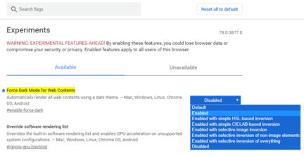 chrome-canary-forcer-dark-mode-web-options