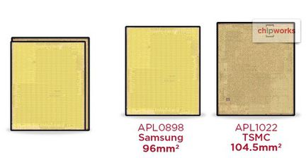 Apple A9 TSMC Samsung