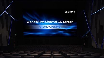 Samsung microLED cinema