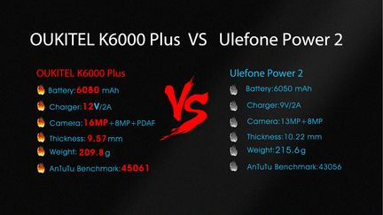 K6000 PLUS VS Power 2