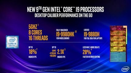 Intel Core 9e generation serie H