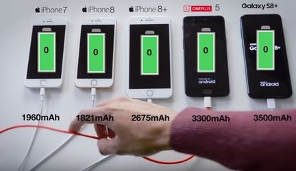 iPhone 8 batterie recharge