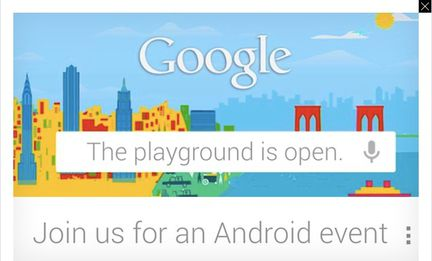 Google Android invitation
