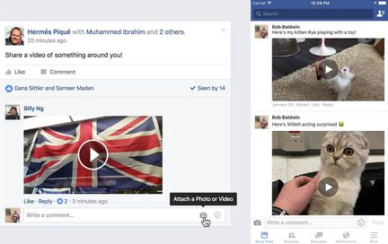 Facebook-joindre-video-commentaire