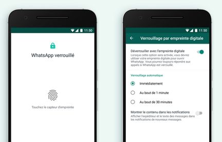 whatsapp-verrouillage-empreinte-digitale-android