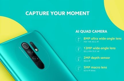 Redmi 9 quadruple capteur photo