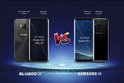 Bluboo S8 vs Galaxy S8
