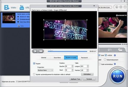 WinX HD Video Converter Deluxe edit video