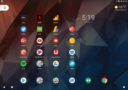 Pixel-C-Android-7.1.2-Launcher