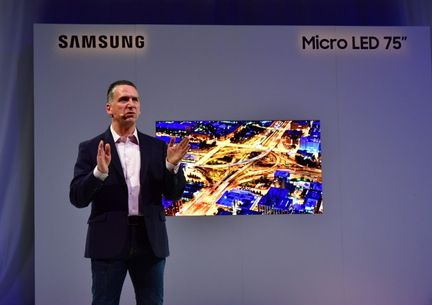 Samsung microLED 75 pouces CES