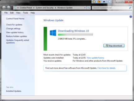 Windows 10 telechargement update en cours -5