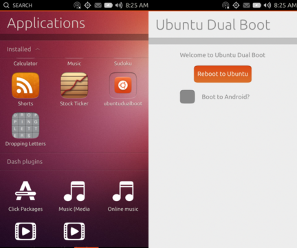 Ubuntu Android dual boot