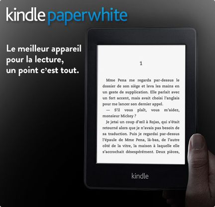 Kindle Paperwhite nouvelle