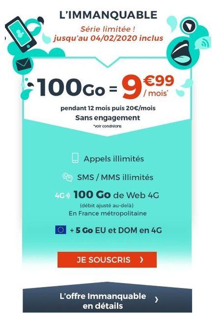 cdiscount mobile 100 Go 9.99?