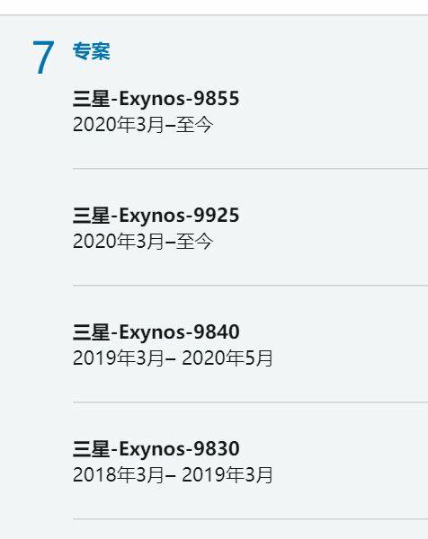 Samsung Exynos roadmap