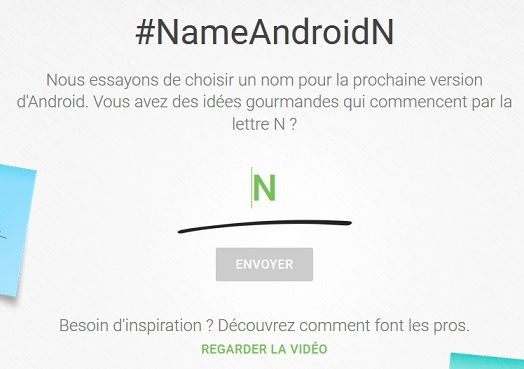Android N dénomination