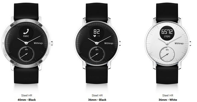 Withings Steel HR gamme
