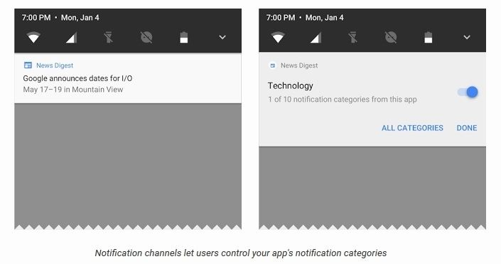 Android O notifications