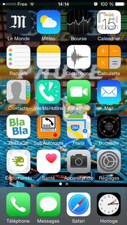 Dock iOS iPhone