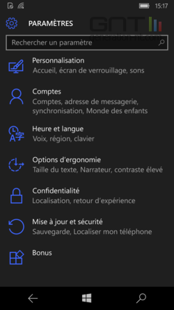 Ecran coup d'oeil Windows 10 (2)