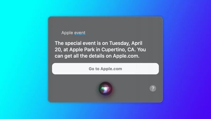 Apple conference Siri