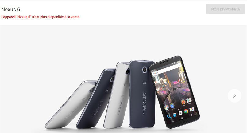 Google Nexus 6 Store dispo