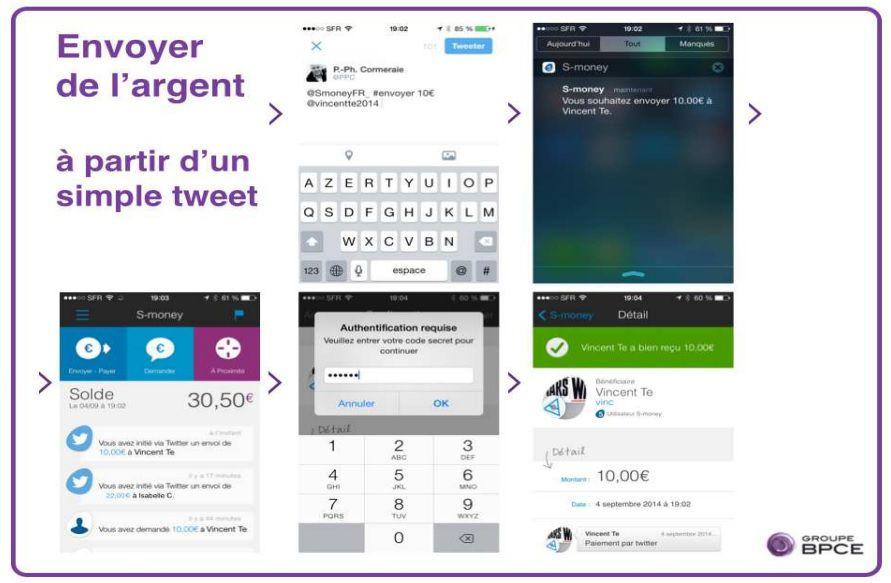 Payer d 39 un simple tweet la bpce et twitter annoncent le - Plafond paiement especes entre particuliers ...