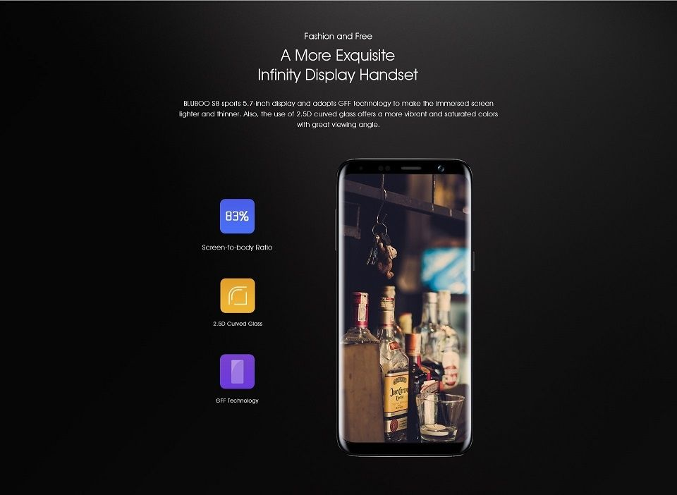 Bluboo S8 interface