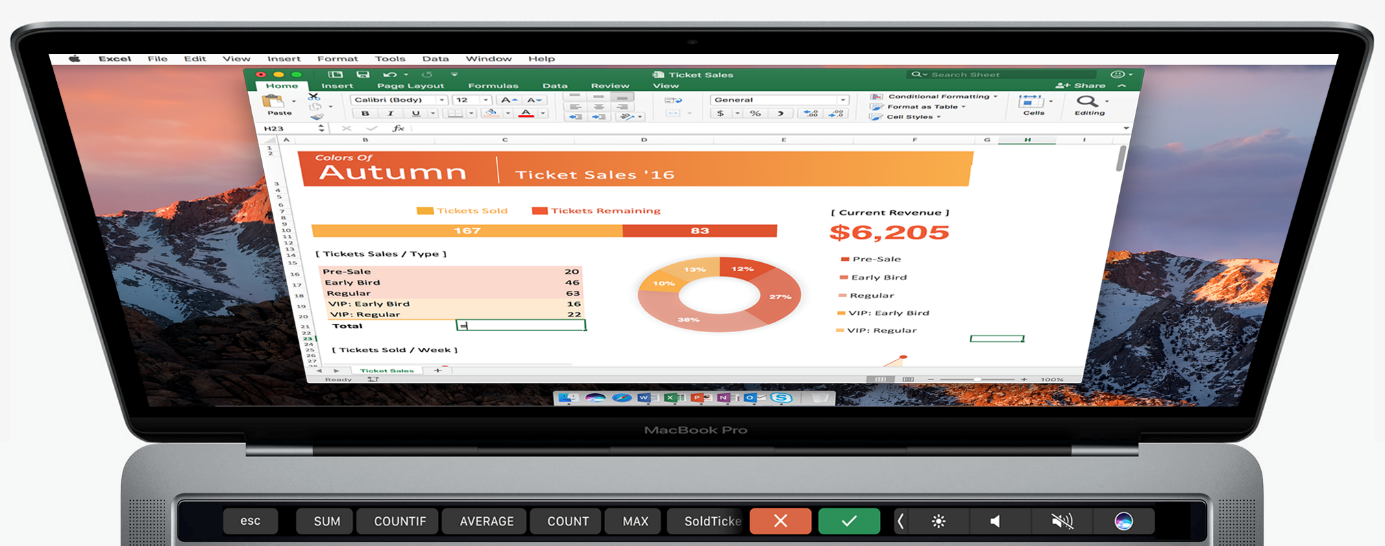 Office-for-Mac-Touch-Bar-Excel