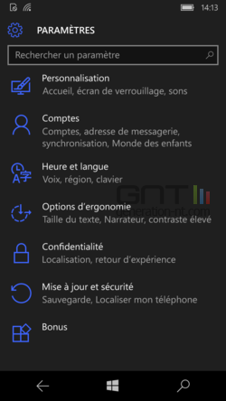 Egaliseur Windows 10 Mobile (2)