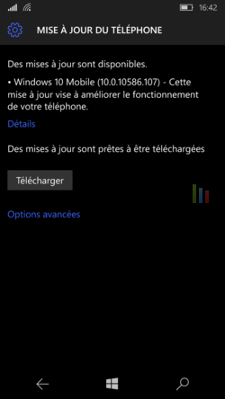 Mise à jour Windows 10 Mobile
