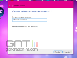 Raccourci point restauration (3)
