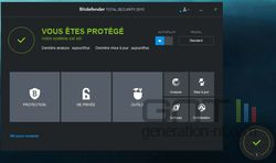 Bitdefender Total Security 2015 menu
