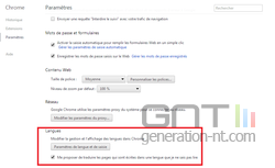 Chrome traduction automatique 3