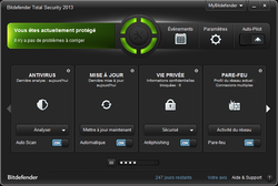 Interface bitdefender 2013