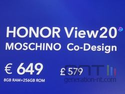 Honor View 20 Moschino prix