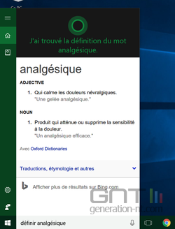 Dictionnaire Cortana (2)