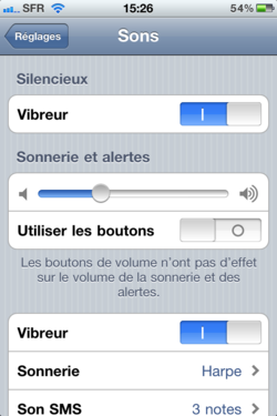 Volume sonore iPhone 003
