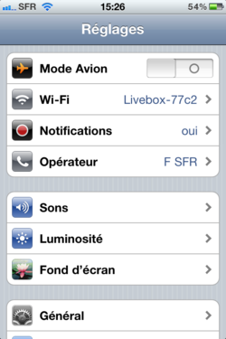 Volume sonore iPhone 001