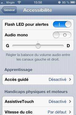 Alerte flash iPhone 4