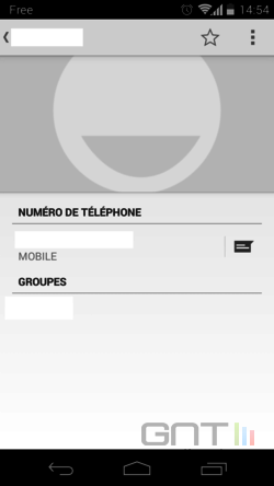 Contacts favoris Android (3)