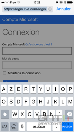 Version classique site Safari iOS (2)