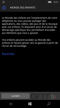 Monde enfants Windows 10 Mobile