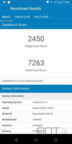 Xiaomi Black Shark Geekbench
