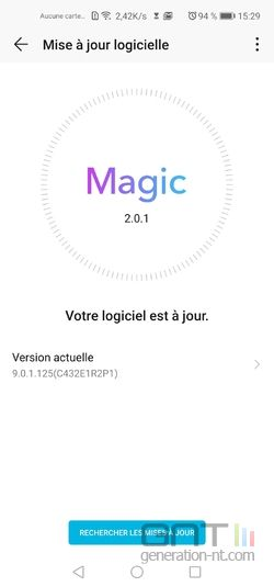 Honor View 20 Magic UI