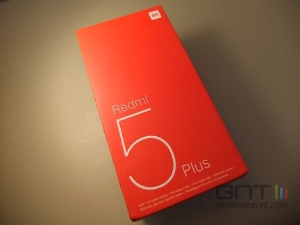 Xiaomi Redmi 5 Plus packaging