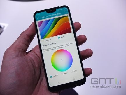 Honor 10 colorimetrie