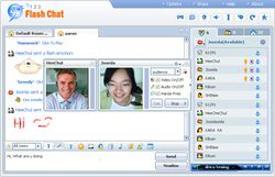 123 Flash Chat Server screen