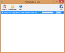 4K YouTube to MP3 screen1